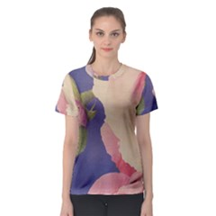 Fabric Textile Abstract Pattern Women s Sport Mesh Tee