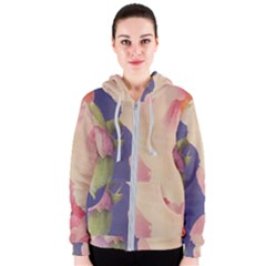 Fabric Textile Abstract Pattern Women s Zipper Hoodie