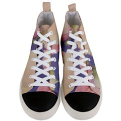 Fabric Textile Abstract Pattern Men s Mid Top Canvas Sneakers