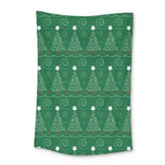 Christmas Tree Holiday Star Small Tapestry