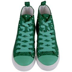 Christmas Tree Holiday Star Women s Mid Top Canvas Sneakers