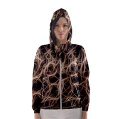 Structure Background Pattern Hooded Wind Breaker (women)