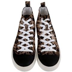 Structure Background Pattern Men s Mid Top Canvas Sneakers