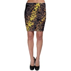 The Background Wallpaper Gold Bodycon Skirt