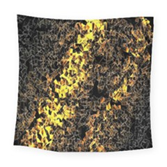 The Background Wallpaper Gold Square Tapestry (large)