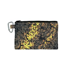 The Background Wallpaper Gold Canvas Cosmetic Bag (small)