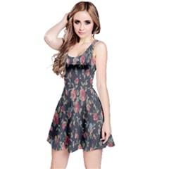 Pattern Flowers Pattern Flowers Reversible Sleeveless Dress