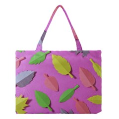 Leaves Autumn Nature Trees Medium Tote Bag