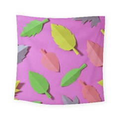 Leaves Autumn Nature Trees Square Tapestry (small)