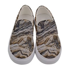 Texture Marble Abstract Pattern Women s Canvas Slip Ons