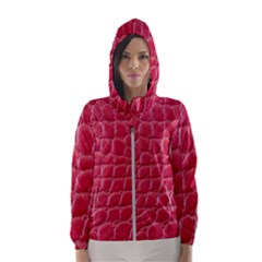 Textile Texture Spotted Fabric Hooded Wind Breaker (women)