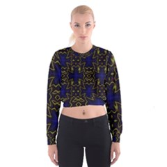 Background Texture Pattern Cropped Sweatshirt