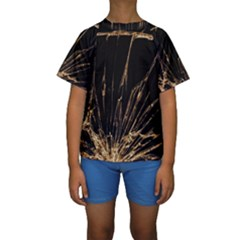 Background Abstract Structure Kids  Short Sleeve Swimwear