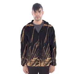 Background Abstract Structure Hooded Wind Breaker (men)