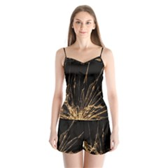 Background Abstract Structure Satin Pajamas Set