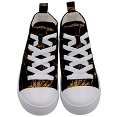 Background Abstract Structure Kid s Mid Top Canvas Sneakers