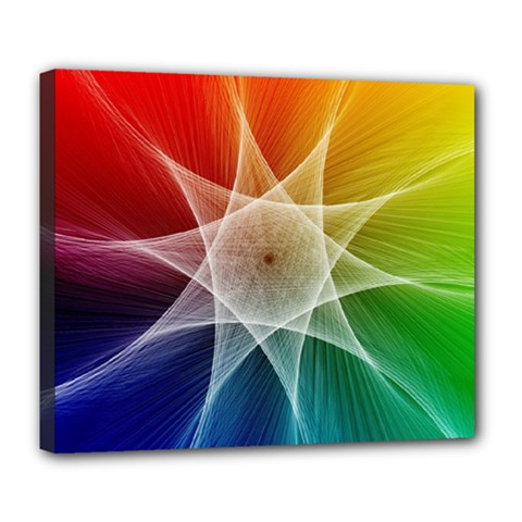 Abstract Star Pattern Structure Deluxe Canvas 24  X 20