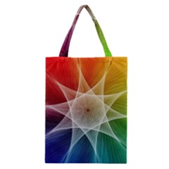 Abstract Star Pattern Structure Classic Tote Bag