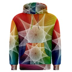 Abstract Star Pattern Structure Men s Pullover Hoodie