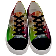 Abstract Star Pattern Structure Men s Low Top Canvas Sneakers