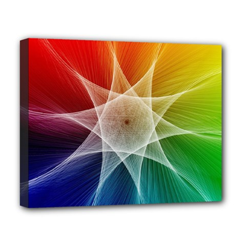 Abstract Star Pattern Structure Deluxe Canvas 20  X 16