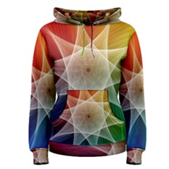 Abstract Star Pattern Structure Women s Pullover Hoodie