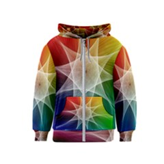 Abstract Star Pattern Structure Kids  Zipper Hoodie