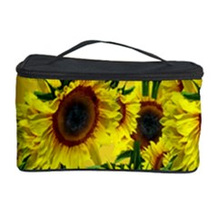 Sun Flower Pattern Background Cosmetic Storage Case