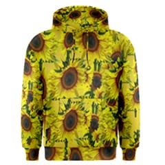 Sun Flower Pattern Background Men s Pullover Hoodie