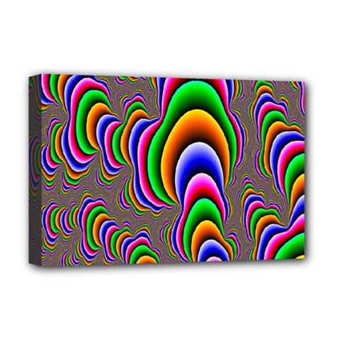Fractal Background Pattern Color Deluxe Canvas 18  X 12