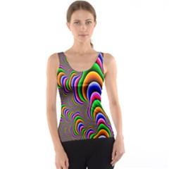 Fractal Background Pattern Color Tank Top