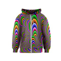 Fractal Background Pattern Color Kids  Zipper Hoodie