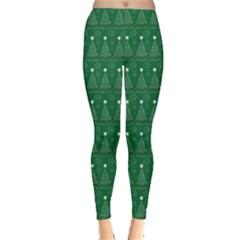 Christmas Tree Pattern Design Leggings