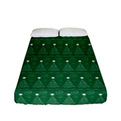 Christmas Tree Pattern Design Fitted Sheet (full/ Double Size)
