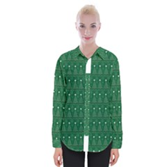 Christmas Tree Pattern Design Womens Long Sleeve Shirt