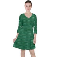 Christmas Tree Pattern Design Ruffle Dress