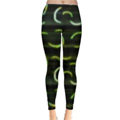 Abstract Dark Blur Texture Leggings