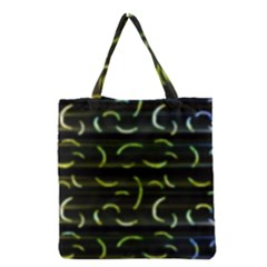 Abstract Dark Blur Texture Grocery Tote Bag