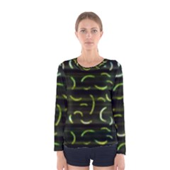 Abstract Dark Blur Texture Women s Long Sleeve Tee