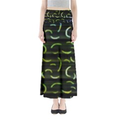 Abstract Dark Blur Texture Full Length Maxi Skirt