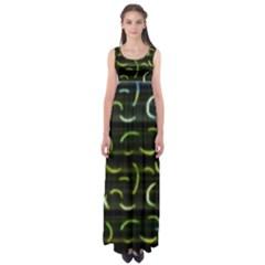 Abstract Dark Blur Texture Empire Waist Maxi Dress