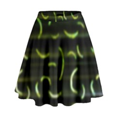 Abstract Dark Blur Texture High Waist Skirt