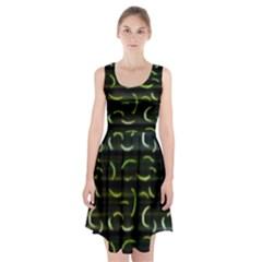 Abstract Dark Blur Texture Racerback Midi Dress