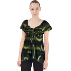 Abstract Dark Blur Texture Lace Front Dolly Top