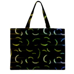 Abstract Dark Blur Texture Zipper Medium Tote Bag