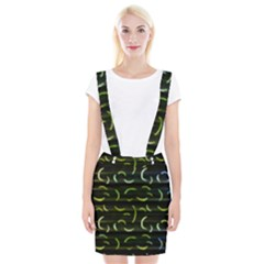 Abstract Dark Blur Texture Braces Suspender Skirt