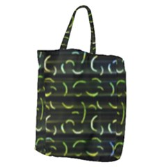 Abstract Dark Blur Texture Giant Grocery Zipper Tote