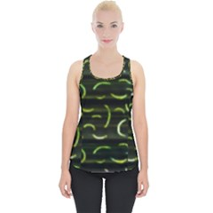 Abstract Dark Blur Texture Piece Up Tank Top