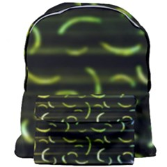 Abstract Dark Blur Texture Giant Full Print Backpack