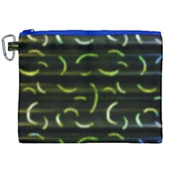 Abstract Dark Blur Texture Canvas Cosmetic Bag (xxl)